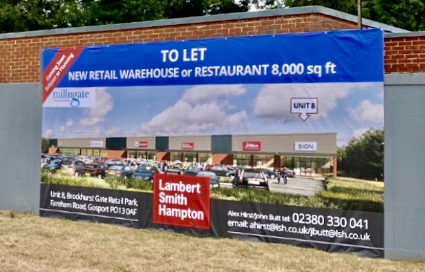 New Retail Warehouse to let in Gosport